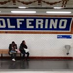 Underground at Solferino stop, April 10