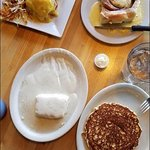 California Style Eggs Benedict wins over sweetroll (T Roll), biscuit & gravy or pancake