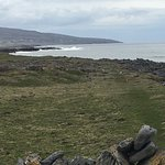 Dry stone walls and grazing land next to the sea