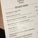 The dessert menu