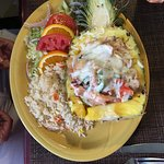 Seafood Medley in Pineapple