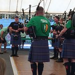 Such a joy to listen and watch the bagpipes