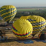 Balloons Above the Valley Takeoff