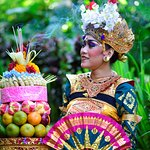 Legong Dancer and The Offering