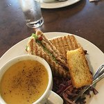 Chicken club & daily soup