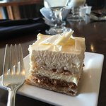 White chocolate rocher dessert