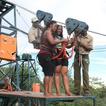 Preparation for tandem zipline