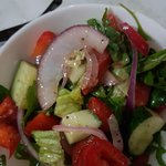 side salad with yummy dressing