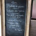 Yesterday's menu