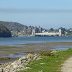 Low tide and Conwy castle in the background