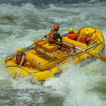 The safety raft is the easy option if the paddle-raft get's too much!