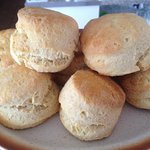 We make our scones in the cafe