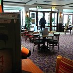 Wetherspoon's owner Tim Martin in the pub.