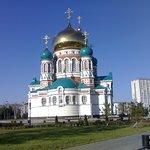 Успенский собор, одна из главных достопримечательностей города Омска.