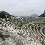 Great interesting site, with nature reclaiming the ancient buildings. The arena sits on the side