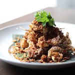 Fried Soft Shell Crab with Crispy Garlic and Black Pepper