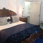 The Blue Room - Super-king size bed with en-suite. All rooms have mini fridges & Tea/ Coffee tra