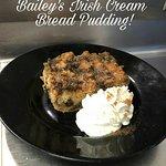 Homemade Bailey's Irish Cream Bread Pudding