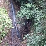 One of the waterfalls, as seen from the tram.