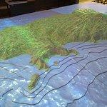 Cocos Island, topographic model.