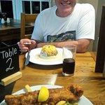 Dining at clunie inn with vegetarian haggis