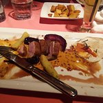 The roasted duck and rose pepper sauce was beautiful.