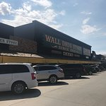Parking outside one of the Wall Drug stores