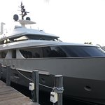 One of the many yachts along the dock!