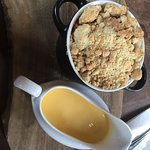 Crumble and custard, the topping was lovely!