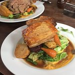 Pork Belly and Roast Lamb dinners - Nomnom
