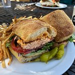 Salmon Sandwich with fries