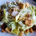 Awesome pizza & Caesar salad