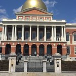 Outside of state house and inside