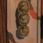 This crab California roll was delicious but it cost $9.  $18 if you want an entire roll.