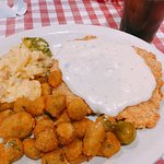 Chicken-fried steak dinner