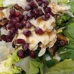 green salad with pomegranate, delish!