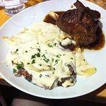 Lamb with gratin