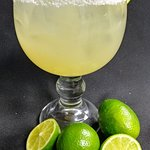 Our Margaritas made with fresh squeezed lime juice