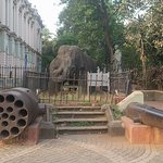 Stone Elephant Statue at Dr Bhau Daji Lad Museum Byculla