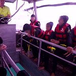 The glass-bottomed boat supporting the Seastar, giving a brief tour of the corals