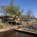 On the water dining area is nearing completion!