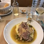 Duck in green olive sauce - tender and moist!