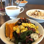 from the salad bar in the breakfast buffet! (coffee/cereal/and mama's salad bowl in the backgrou