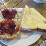 Toast, scones and jam