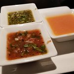 Array of flavorful sauces including pureed habanero