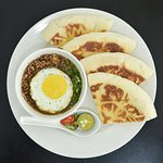 Roti Arab Kacang Pool - famous in Johore  - go  for  it  at  D' Auni Cafe