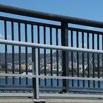 People can walk on the bridge
