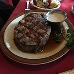 Prime Rib and Roasted Red potatoes. Great horseradish sauce on the side.