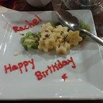 A little birthday treat (I had refused dessert)