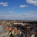 Veiw of the town and countryside from the top of the bell tower.